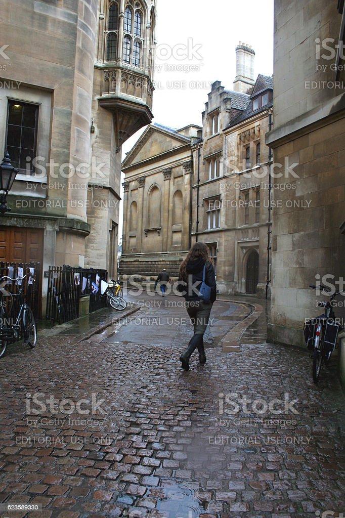 RAINY DAY IN CAMBRIDGE stock photo
