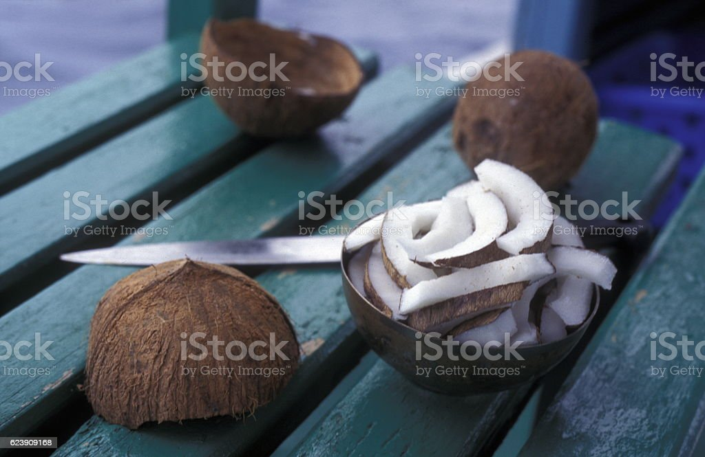 ASIA INDIAN OCEAN MALDIVES FRUITS stock photo