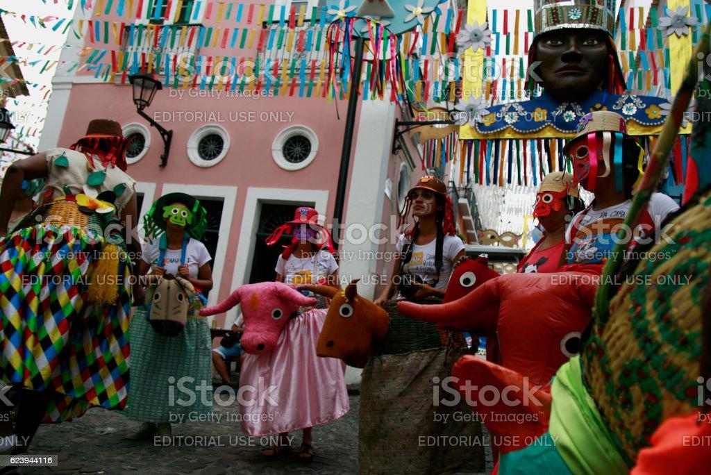 BUMBA MEU BOI / SALVADOR / CARNIVAL stock photo