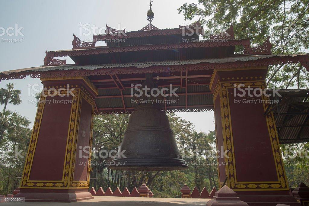 ASIA MYANMAR MANDALAY AMARAPURA TEMPLE stock photo