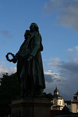 GOETHE AND SCHILLER BY SUNSET