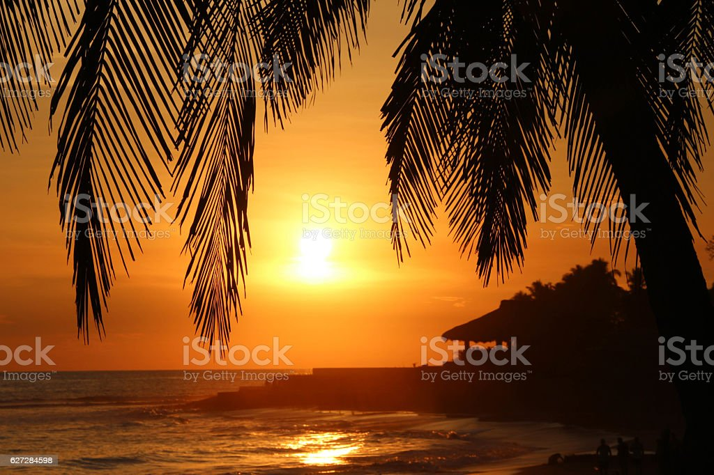 EL SALVADOR SUNSET stock photo