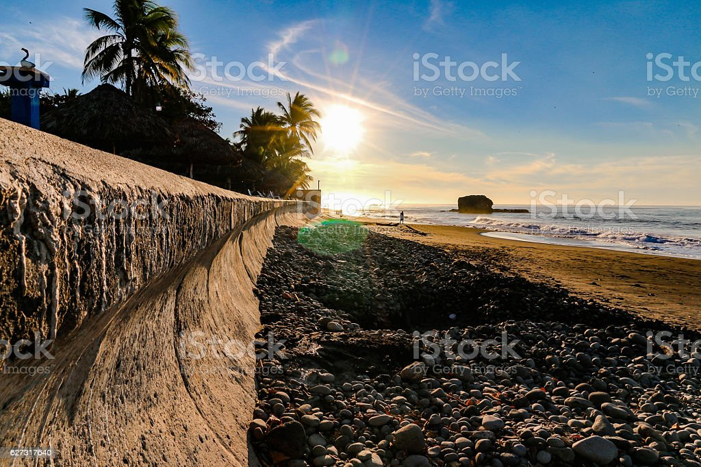 BEACH PERSPECTIVE stock photo