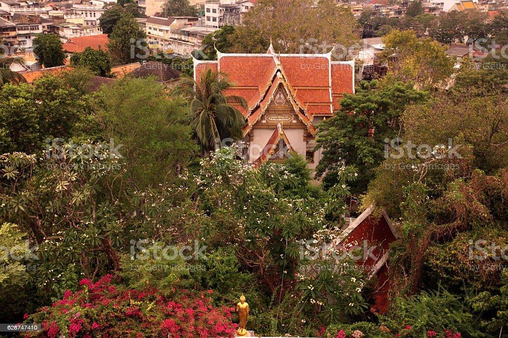 ASIA THAILAND BANGKOK BANGLAPHU GOLDEN MOUNT stock photo
