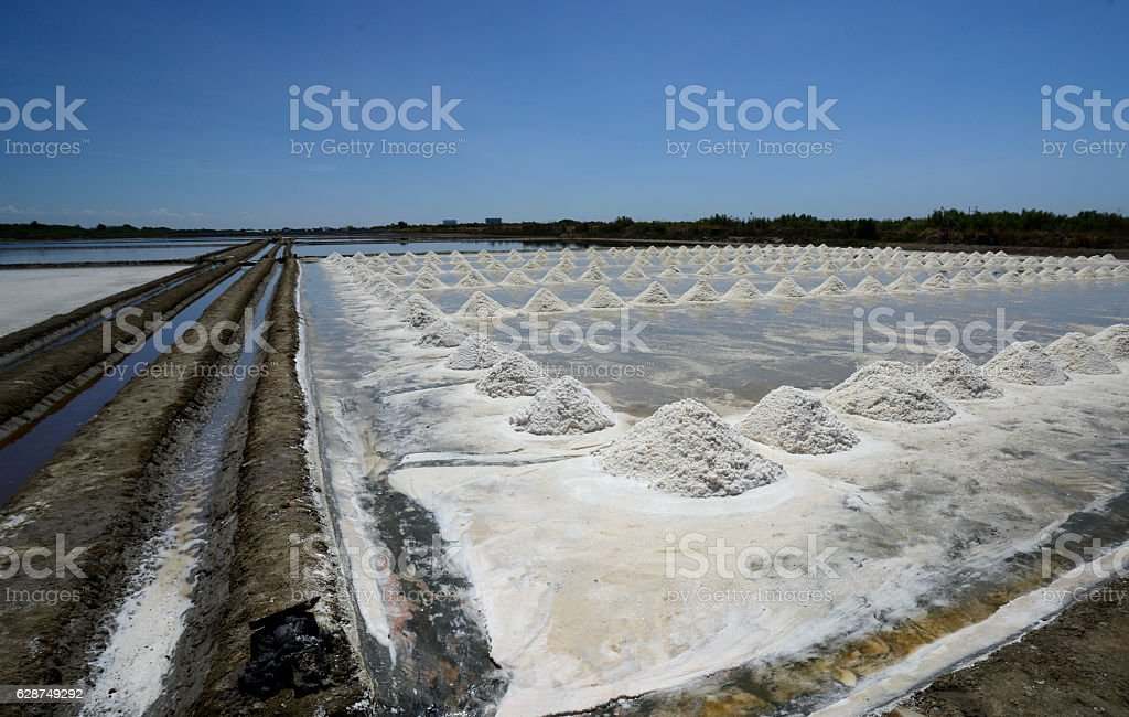 ASIA THAILAND BANGKOK SALT PRODUCTION stock photo