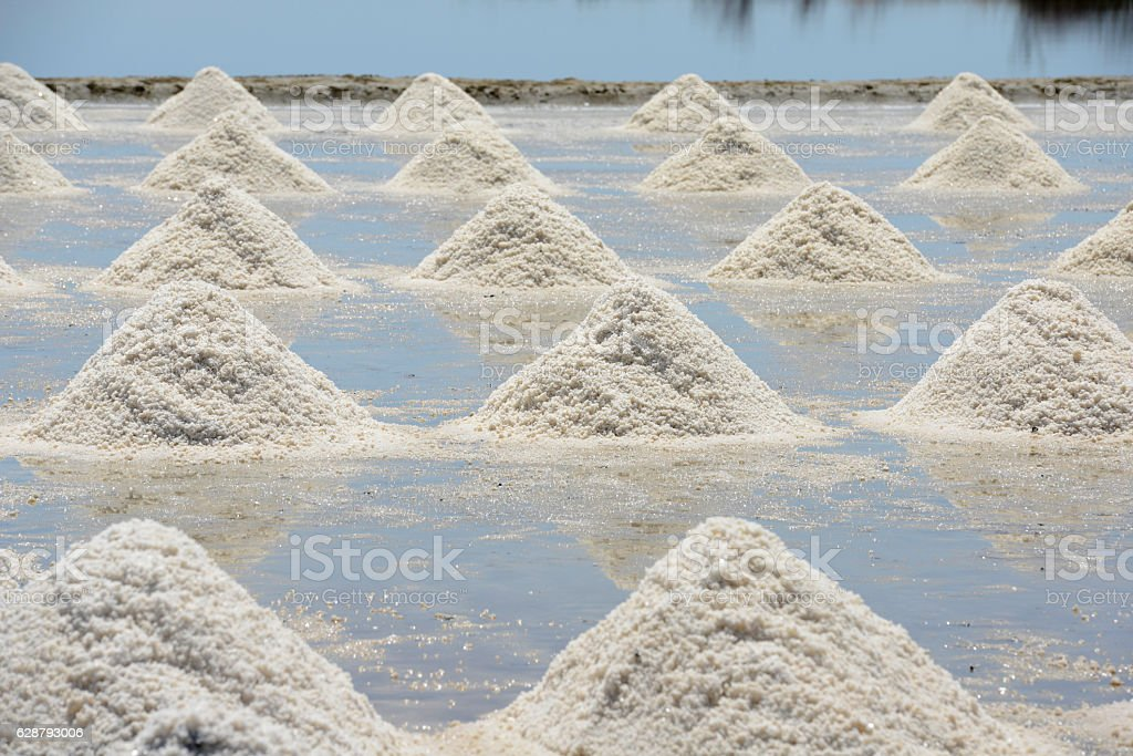 ASIA THAILAND BANGKOK SALT PLANTATION stock photo
