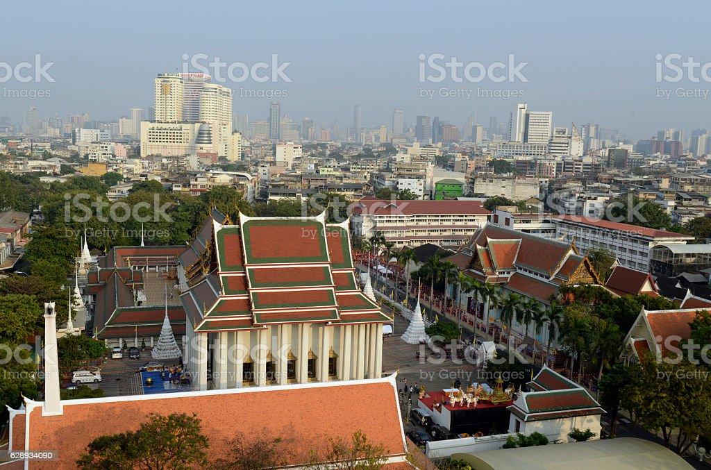 ASIA THAILAND BANGKOK WAT SAKET stock photo
