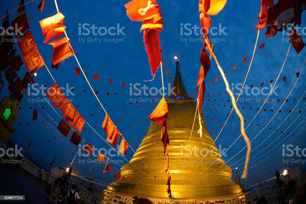 ASIA THAILAND BANGKOK GOLDEN MOUNT stock photo
