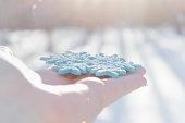 BLUE CHRISTMAS SNOWFLAKE