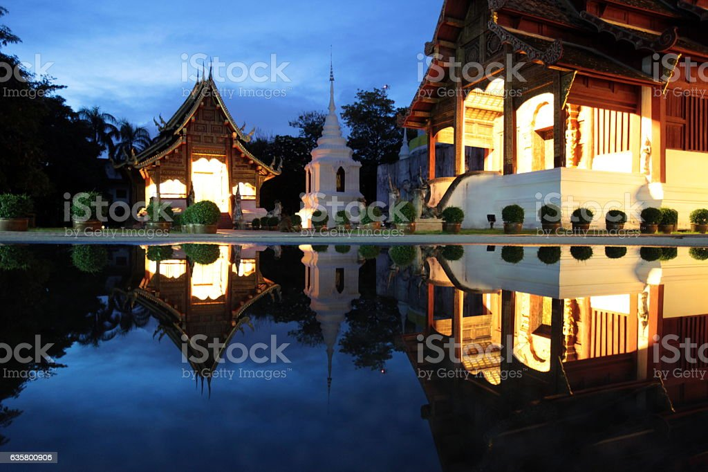 ASIA THAILAND CHIANG MAI WAT PHRA SING stock photo