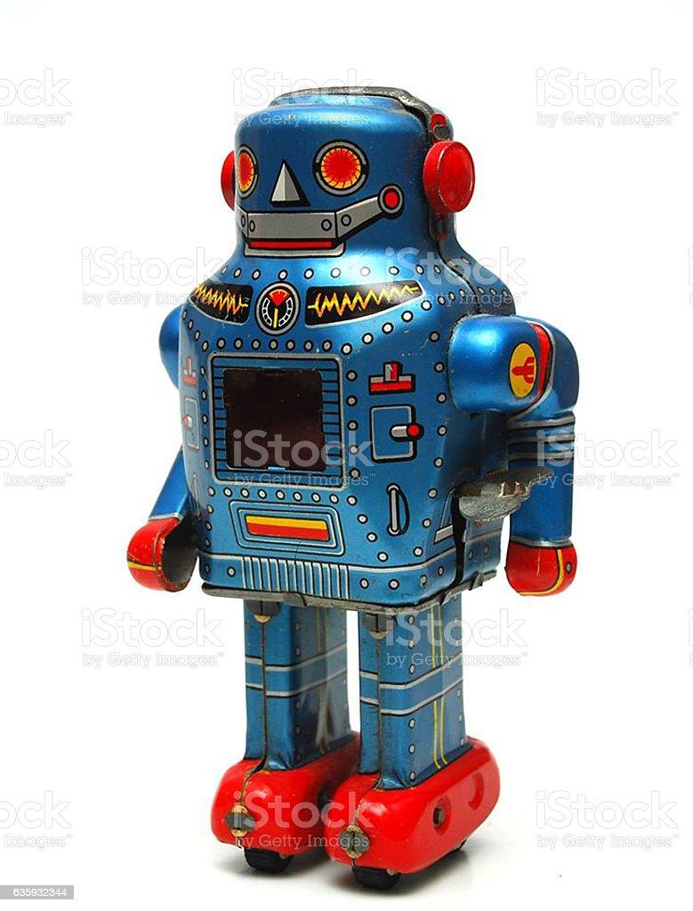TIN LITHO ROBOT JAPAN stock photo