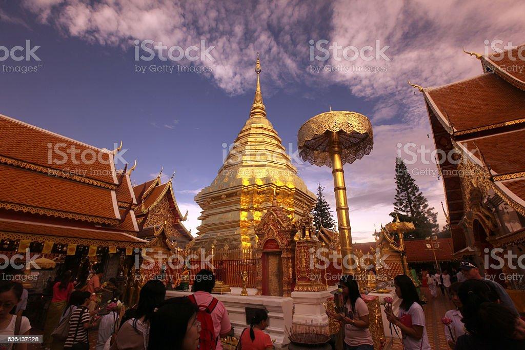 THAILAND CHIANG MAI WAT DOI SUTHEP stock photo