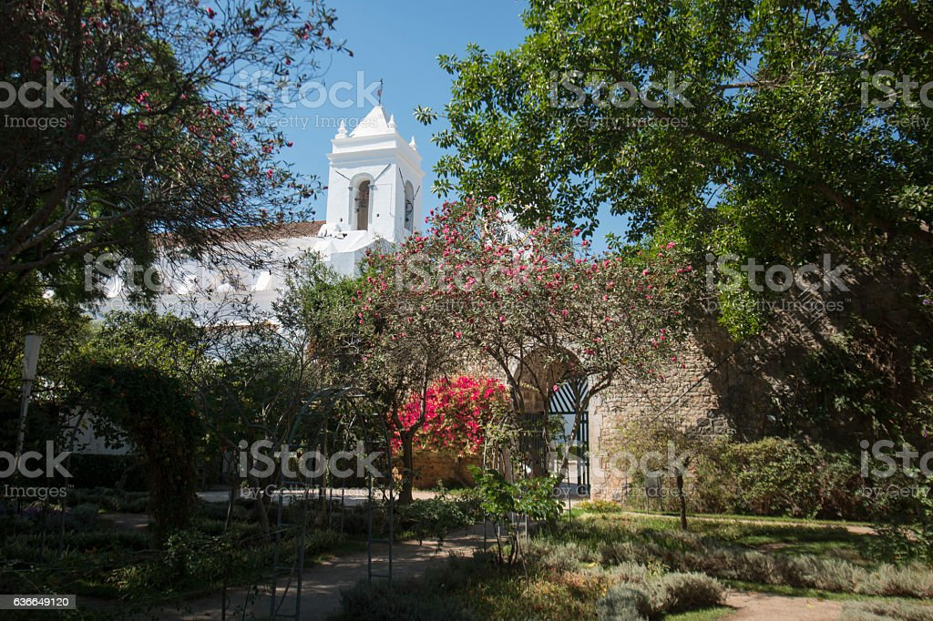EUROPE PORTUGAL ALGARVE TAVIRA CHURCH SANTA MARIA stock photo