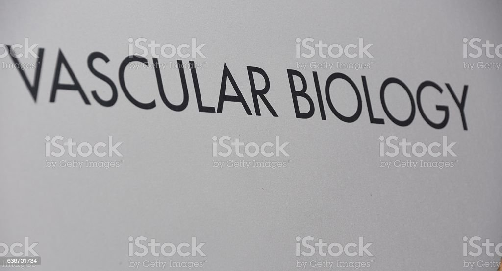 VASCULAR BIOLOGY SIGN stock photo