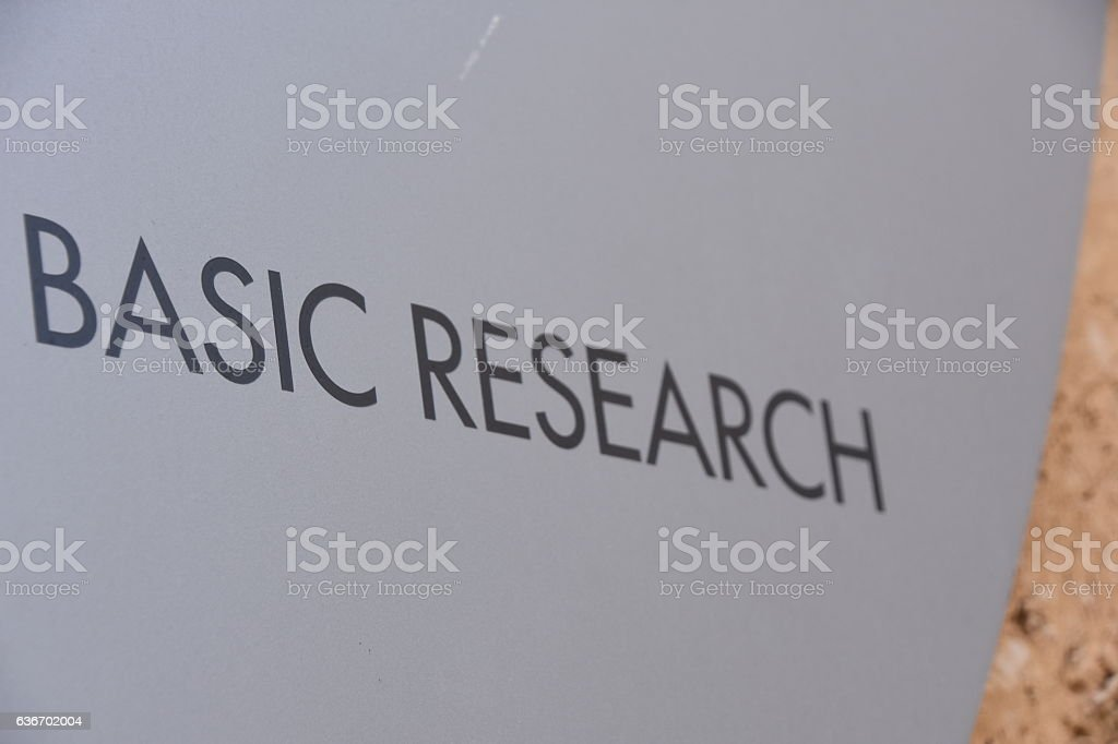 BASIC RESEARCH SIGN stock photo