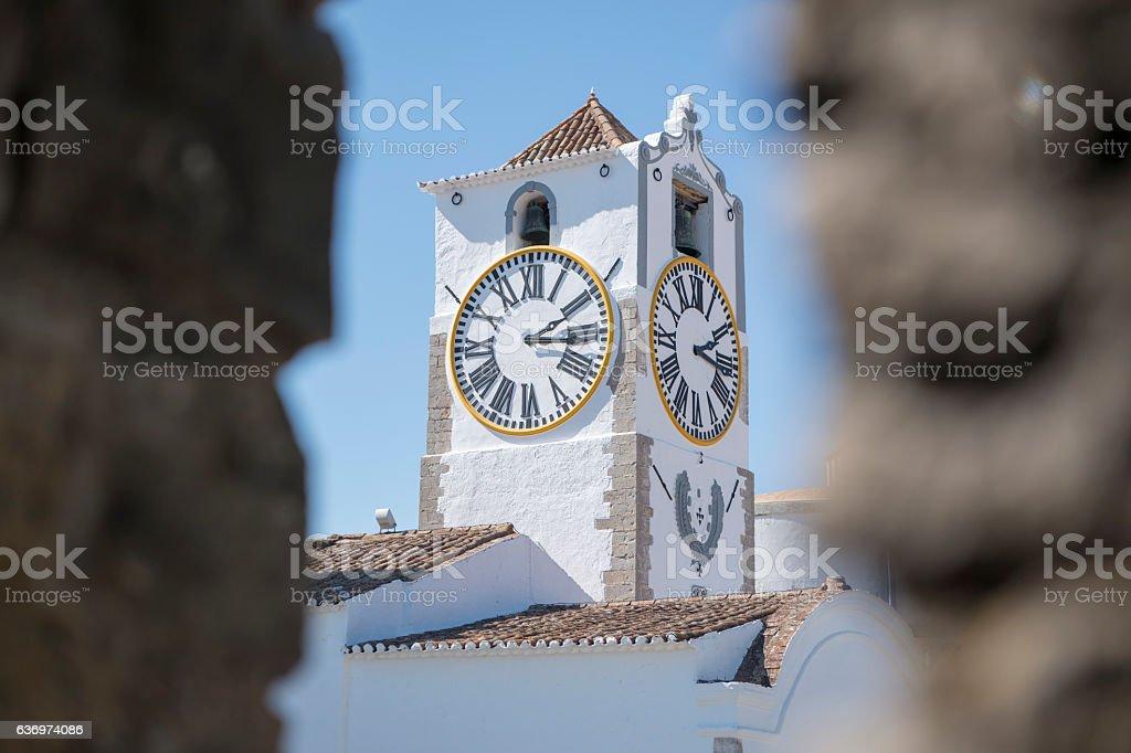 EUROPE PORTUGAL ALGARVE TAVIRA CHURCH SANTA MARIA stock photo