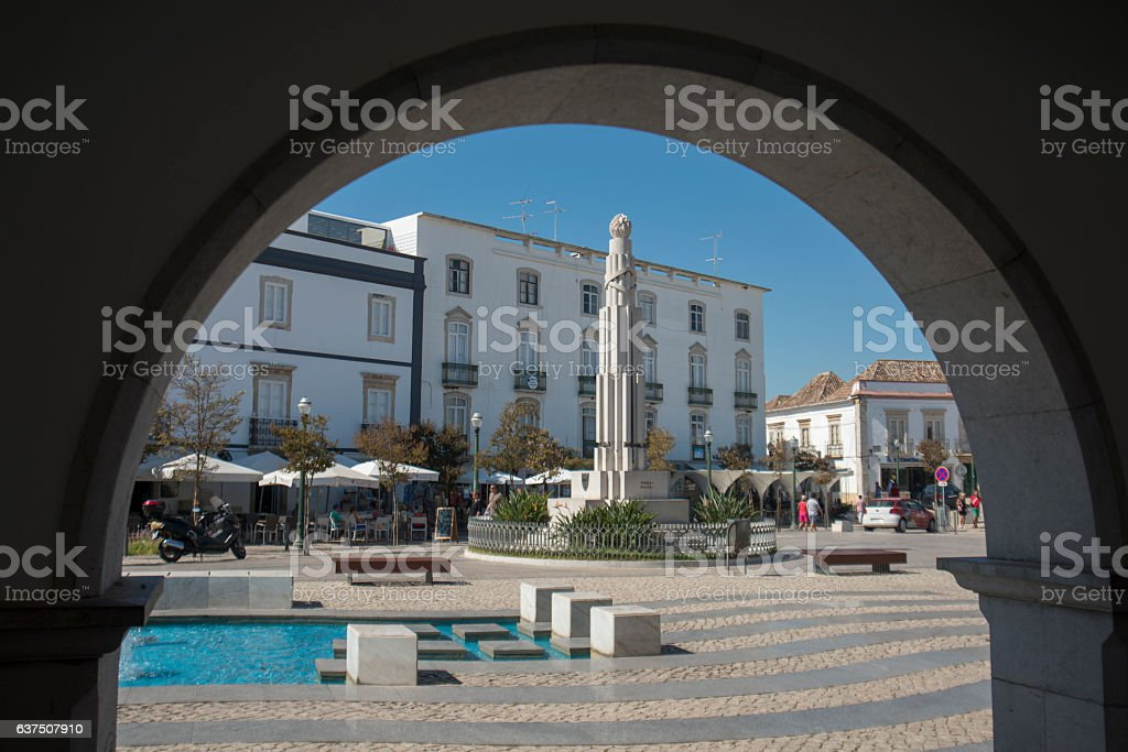 EUROPE PORTUGAL ALGARVE TAVIRA OLD TOWN stock photo