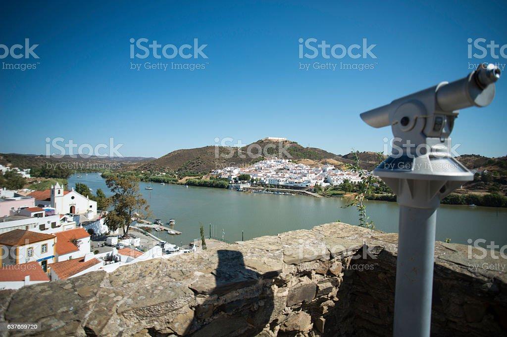EUROPE PORTUGAL ALGARVE ALCOUTIM RIO GUADIANA stock photo