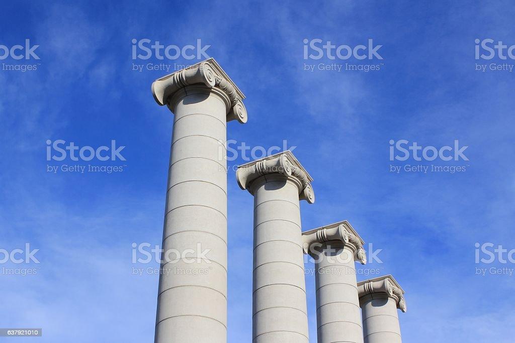IONIC CAPITALS stock photo