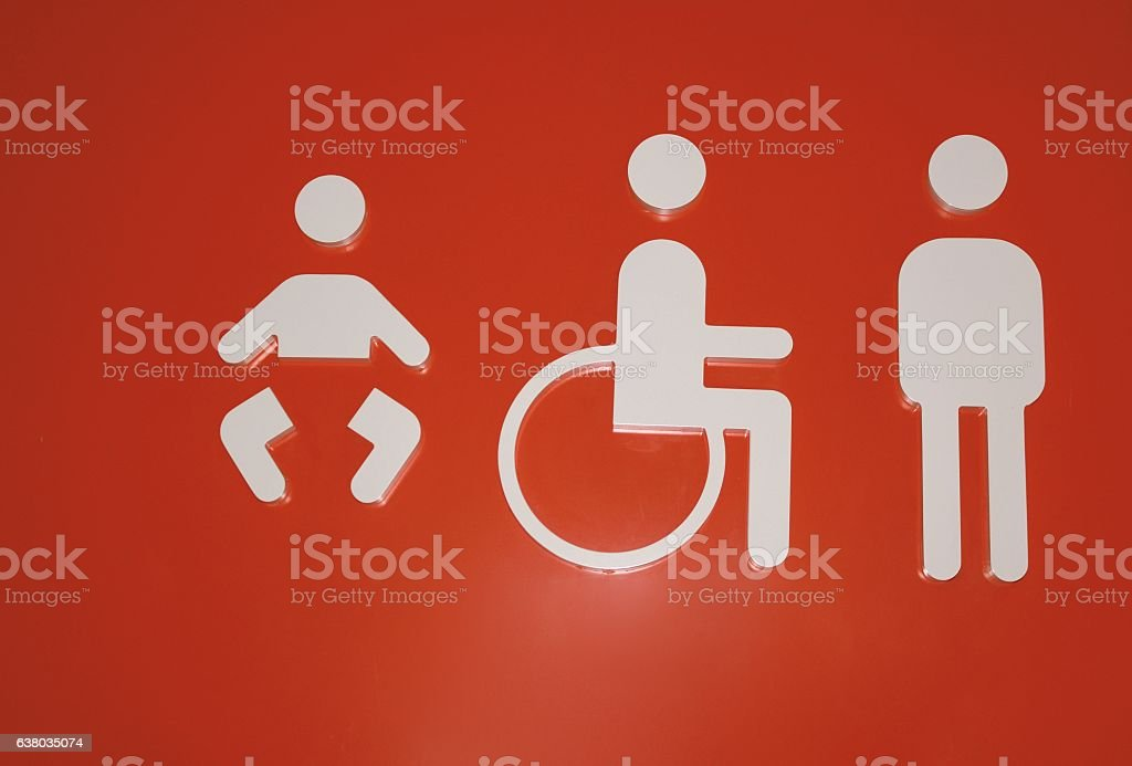 LAVATORY SIGN stock photo