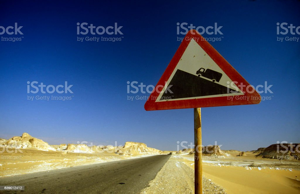 AFRICA EGYPT SAHARA FARAFRA WHITE DESERT stock photo