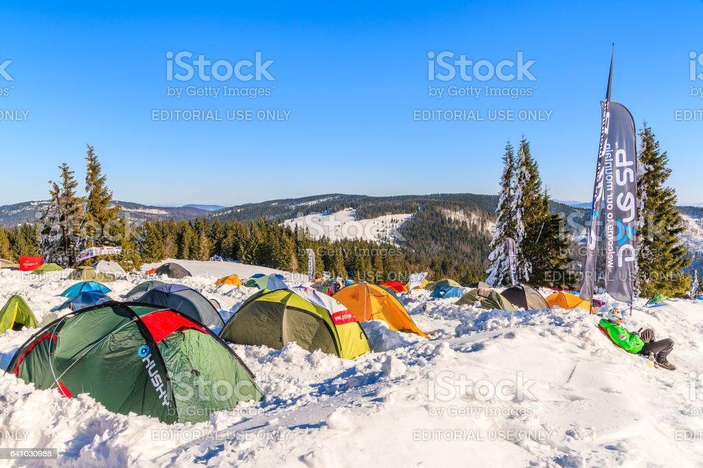 GORCE MOUNTAINS, POLAND stock photo