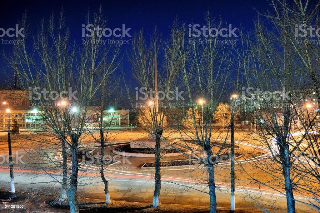 ночной город stock photo