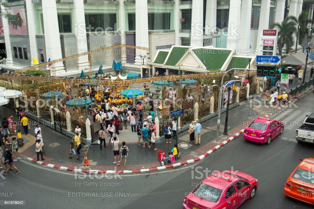 THAILAND BANGKOK SIAM SQUARE ERAWAN SHRINE stock photo