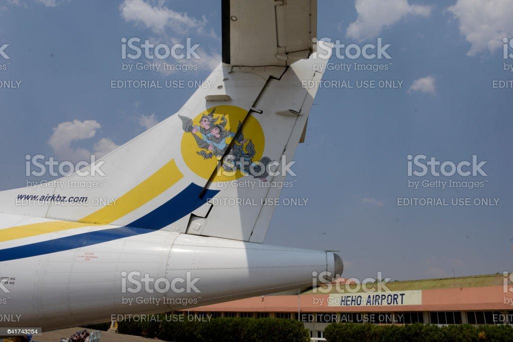 ASIA MYANMAR BURMA AIR KBZ stock photo