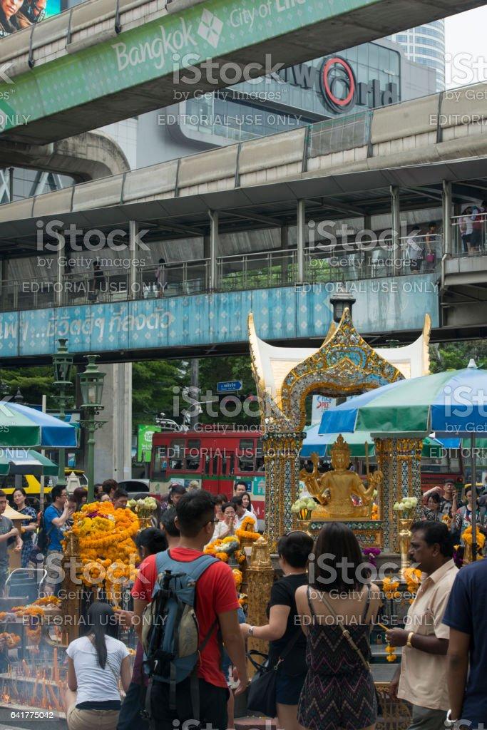 ASIA THAILAND BANGKOK ERAWAN SHRINE stock photo