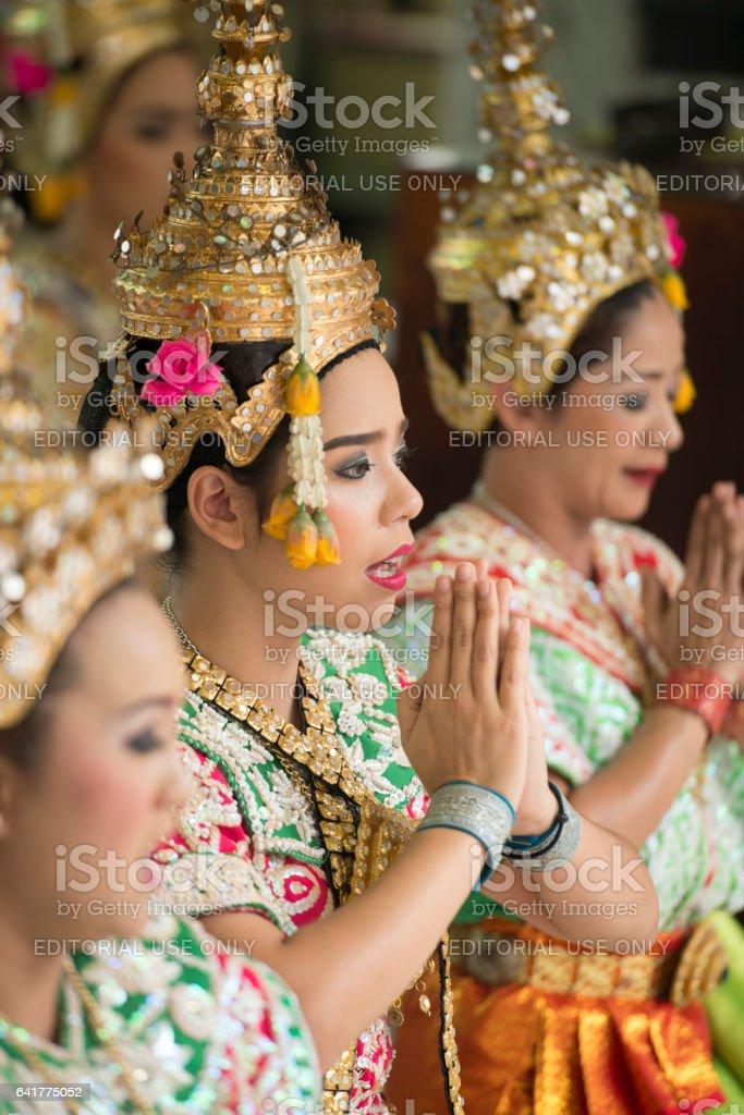 ASIA THAILAND BANGKOK ERAWAN SHRINE DANCE stock photo