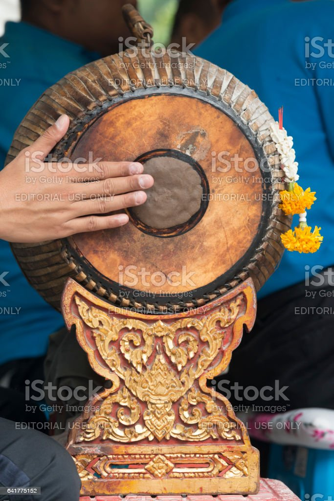 ASIA THAILAND BANGKOK ERAWAN SHRINE MUSIC stock photo