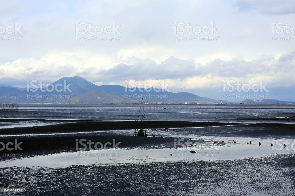 有明海の干潟 stock photo
