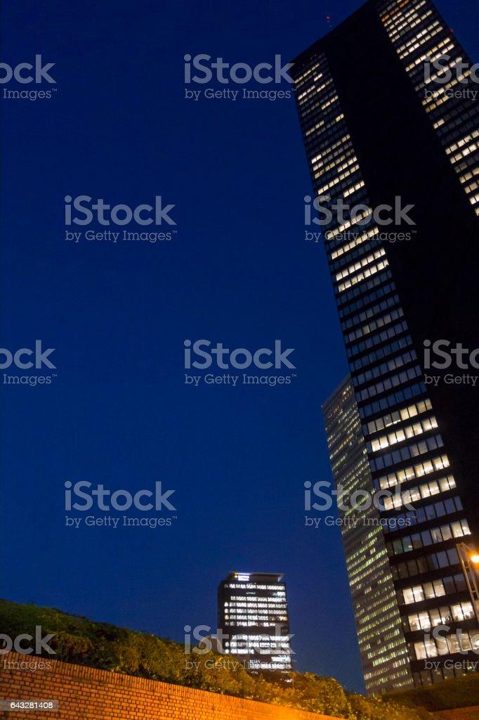 西新宿 夜景 stock photo