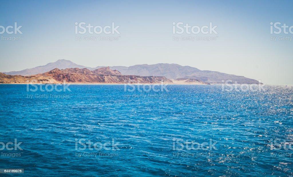Пустынный живописный берег Египта stock photo