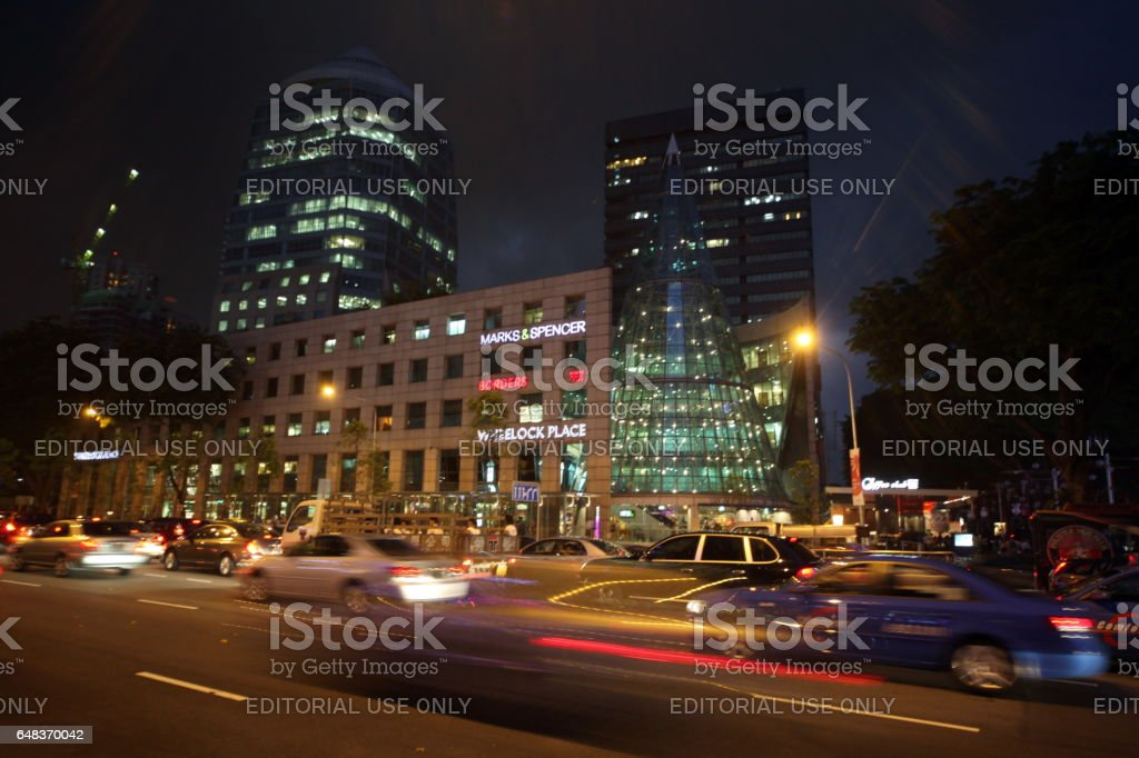 ASIA SINGAPORE ORCHARD ROAD SHOPPING MALL stock photo
