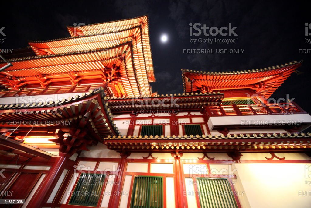 ASIA SINGAPORE CHINA TOWN CHINESE TEMPLE stock photo