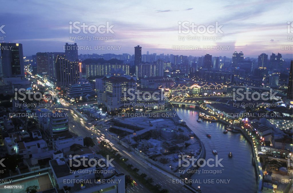 ASIA SINGAPORE CITY DOWN TOWN CITYSCAPE stock photo
