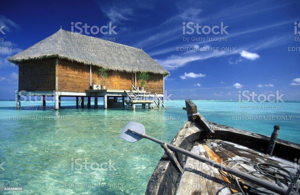 INDIAN OCEAN MALDIVES stock photo