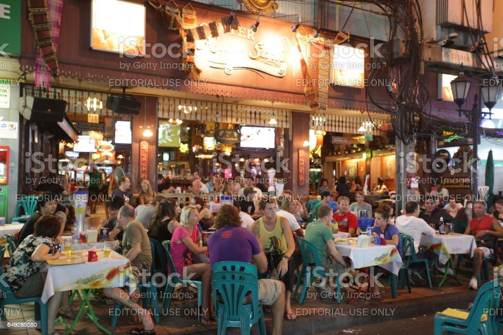 ASIA THAILAND BANGKOK BANGLAMPHU KHAO SAN stock photo