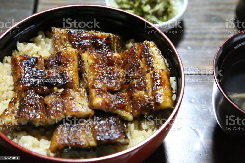 うな丼定食 stock photo