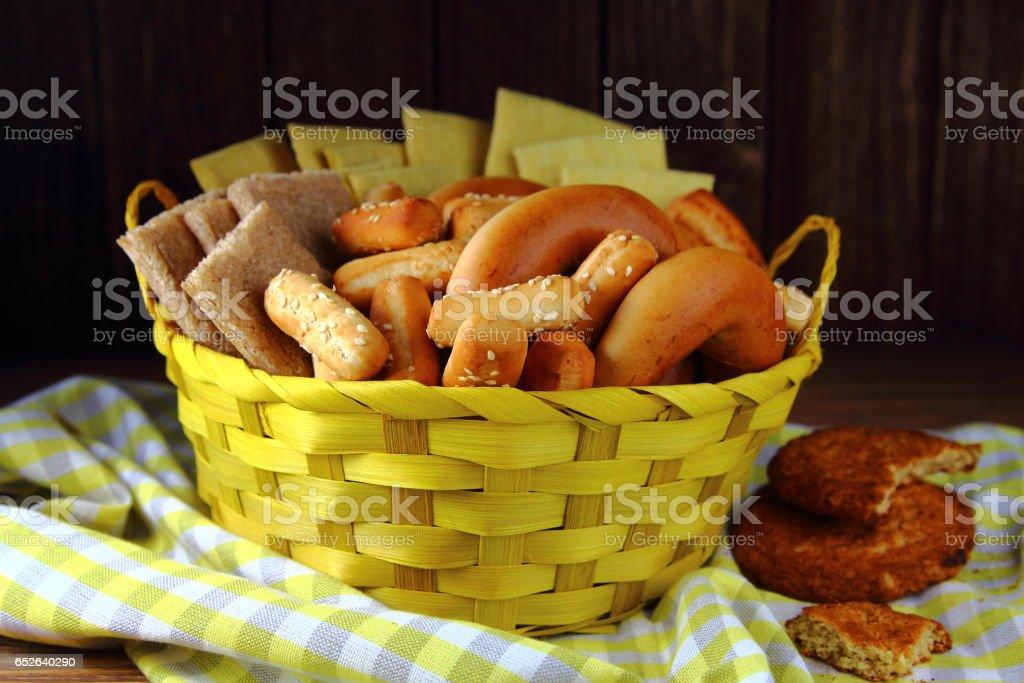 белый хлеб в ассортименте stock photo