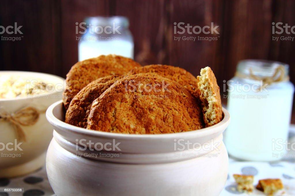 печенье овсяное stock photo
