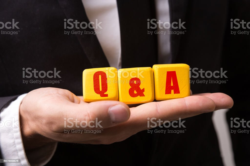 Q&A (Question and Answer) stock photo