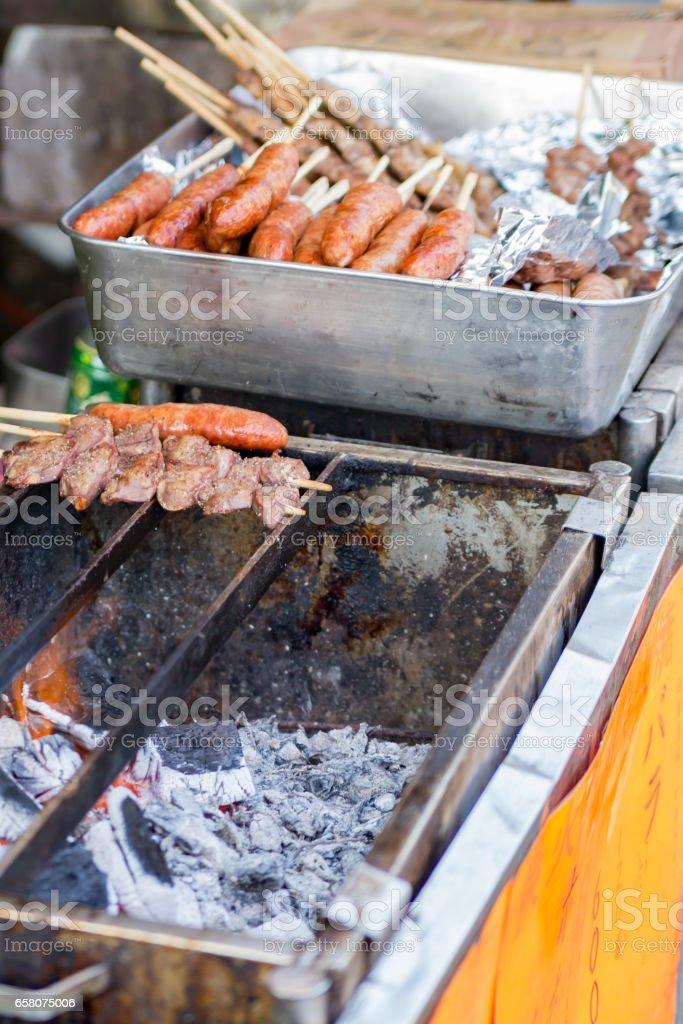 縁日の焼鳥 stock photo