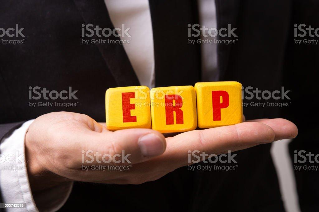 ERP (Enterprise Resource Planning) stock photo