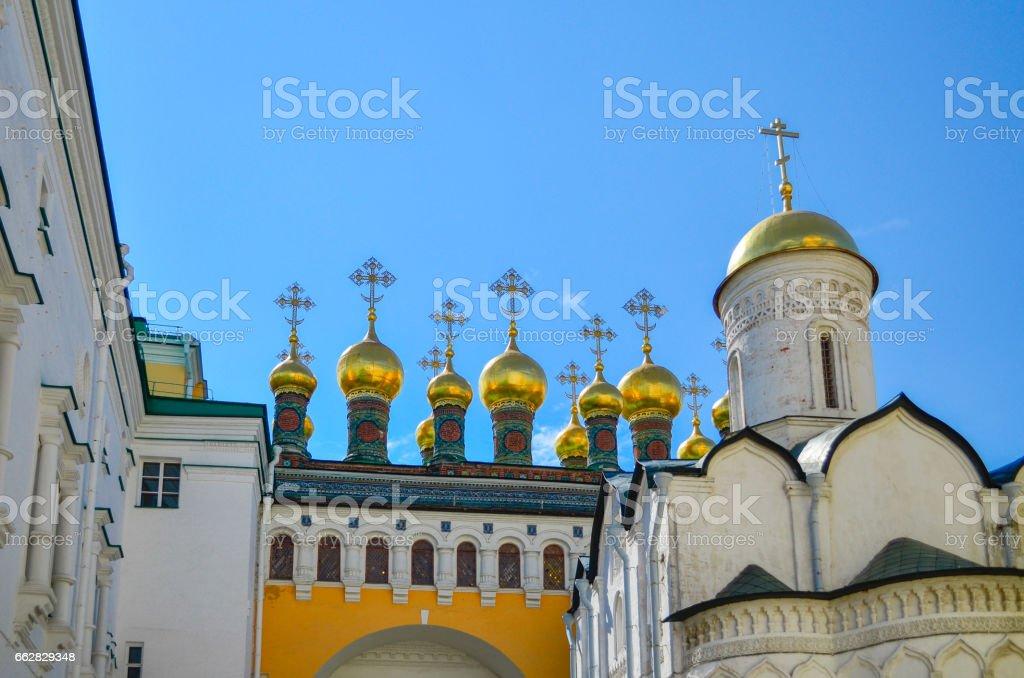 Церкви Московского Кремля. Дата создания 14-15 век. stock photo