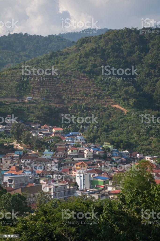 THAILAND CHIANG RAI MAE SAI BORDER TOWN stock photo