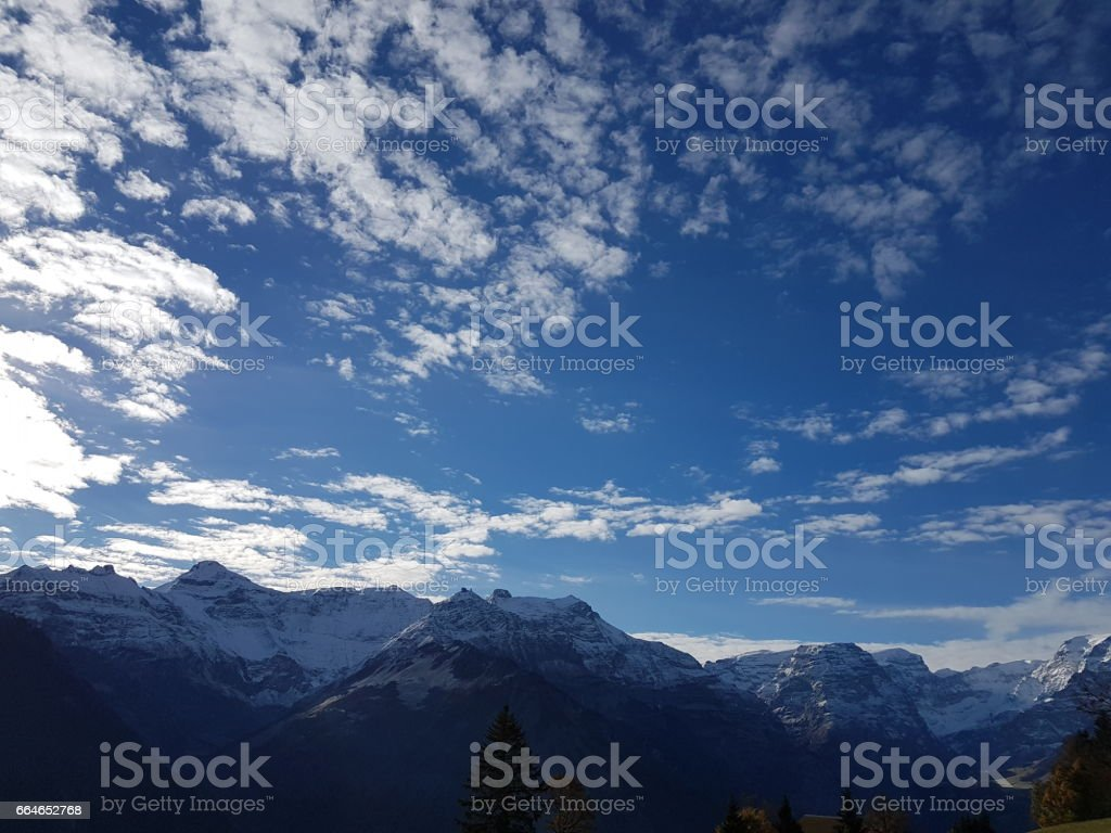 VIEW IN BRAUNWALD stock photo