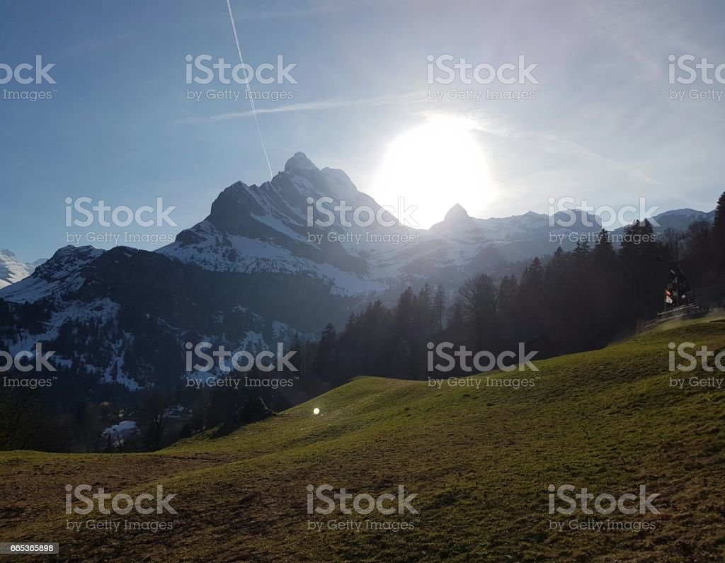 BEAUTIFUL EVENING VIEW BY ALEXANDER'S TÖDIBLICK stock photo